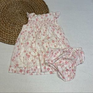 Gap Floral Dress & Bloomers Size 3-6M